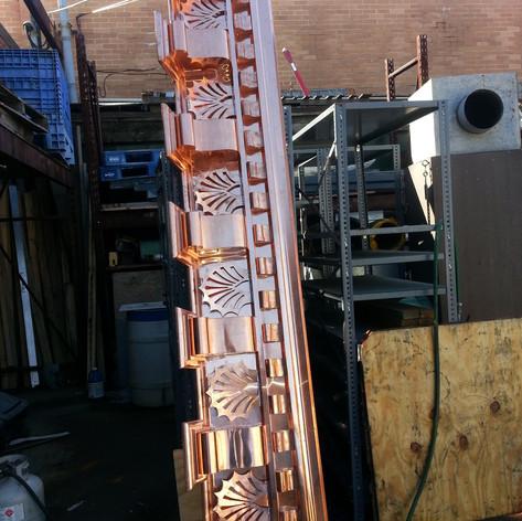 Custom Copper Cornice
