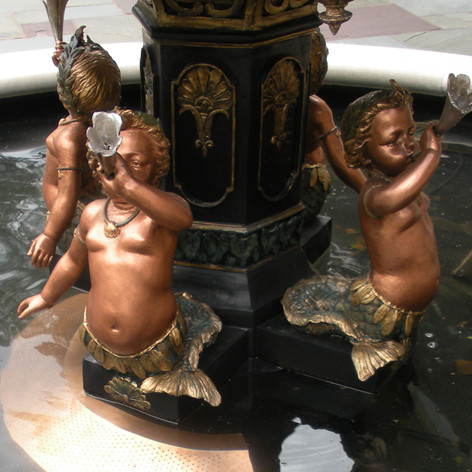 Custom Copper Fountain Detail