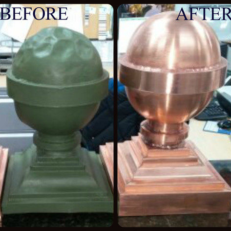 Copper Baby Finial