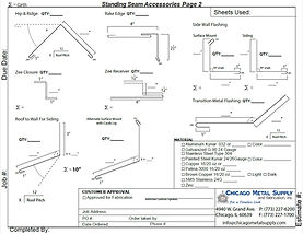 Standing Seam Accessories Page 2 Form