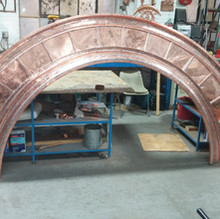 Arched Copper Detailing