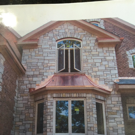 Copper Bay Window Roof
