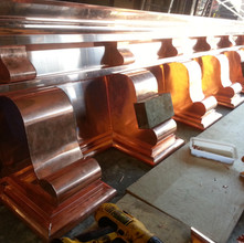 Copper Cornice Being Fabricated