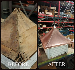 Before & After Copper Top Cupola