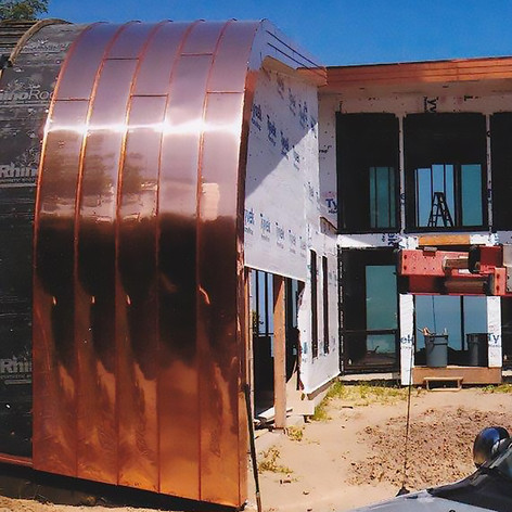 Curved Standing Seam Copper