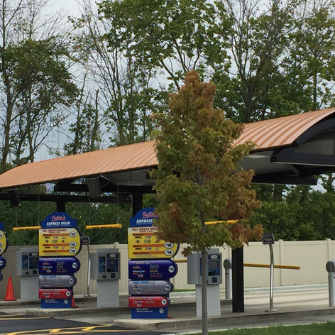 Car Wash with Copper Roofing