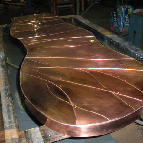 Custom Copper Bar Top