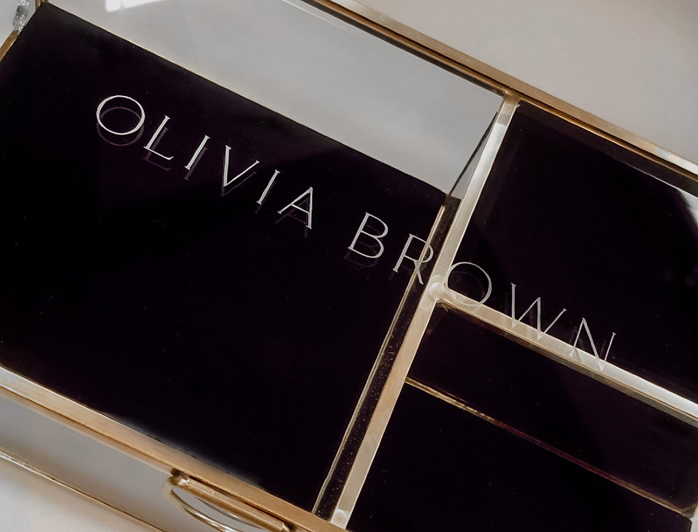 Personalised Large Velvet Jewellery Box