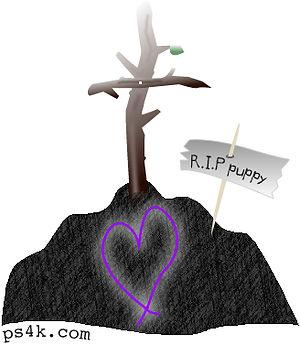 Purple lead heart