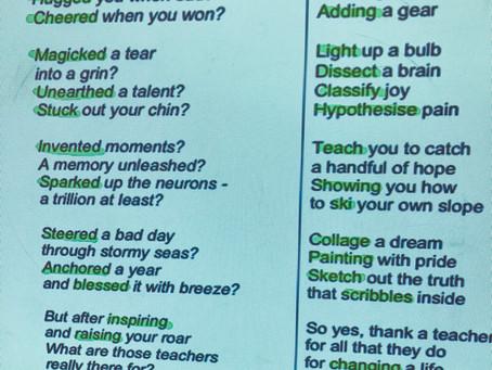 How to Write a Thank A Teacher poem