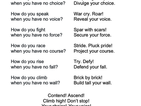 Your Choice! Your Voice!