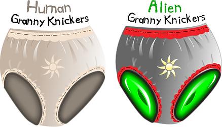Alien Granny Knickers