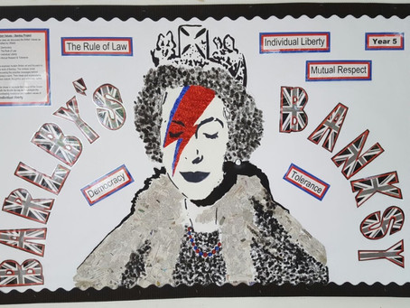 Queen Bowie by Banksy