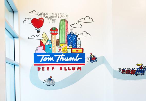 Tom Thumb Mural