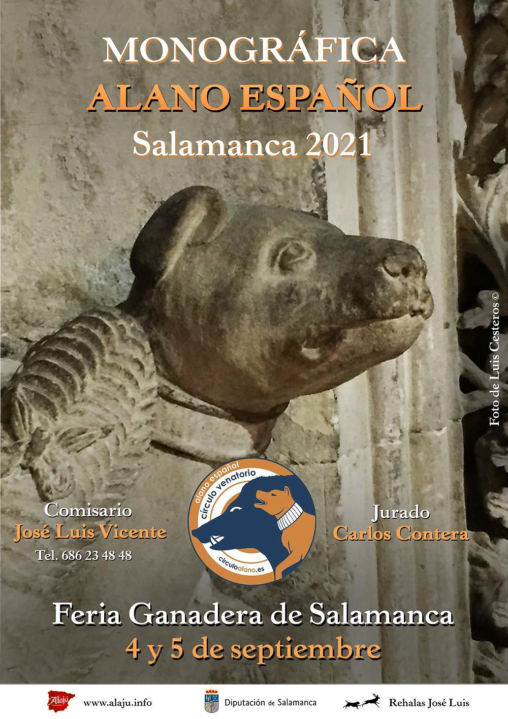 CARTEL Monográfica Alano Español Salamanca 2021