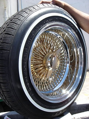 Lowrider Rims And Tires >> Gold Plated Wire Wheels