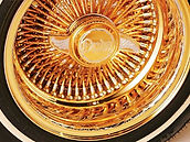 US Gold Plated Wire Wheel