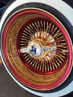 100 Spk Full Engraved Paint & Gold