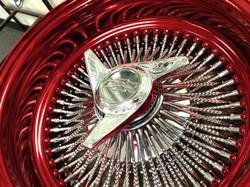 100 Spk Diamond Cut Candy Red Dish