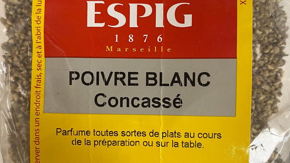 Poivre Blanc Concassé 100g