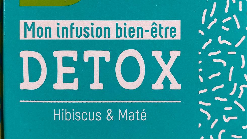 Infusion Bien-être DETOX: Hibiscus & Maté BIO