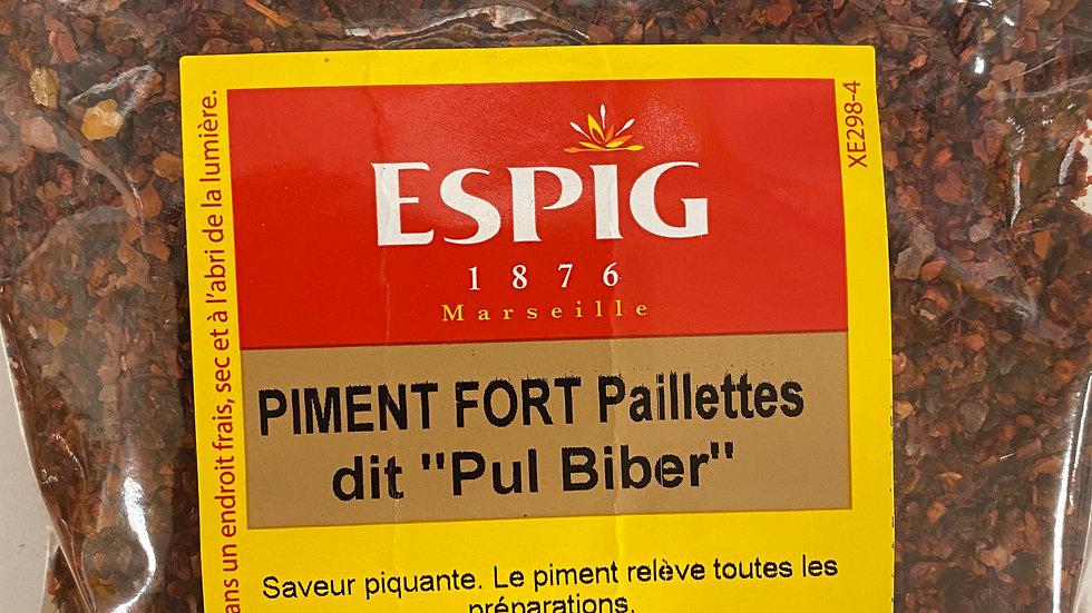 Piment Fort paillettes dit «Pul Biber» 100g