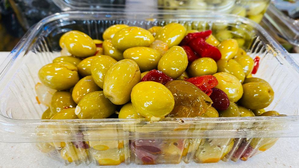 Olives vertes pimentées 500g