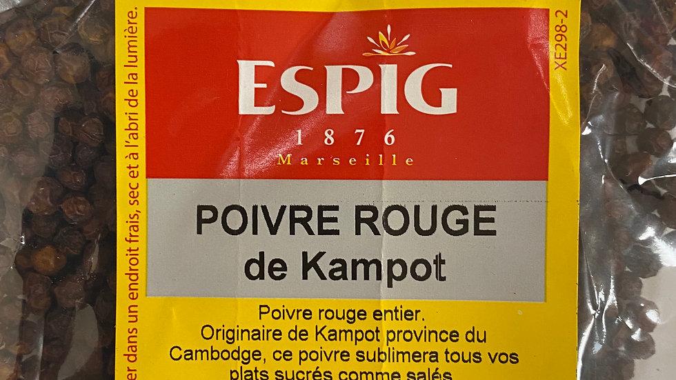 Poivre rouge de Kampot 50g