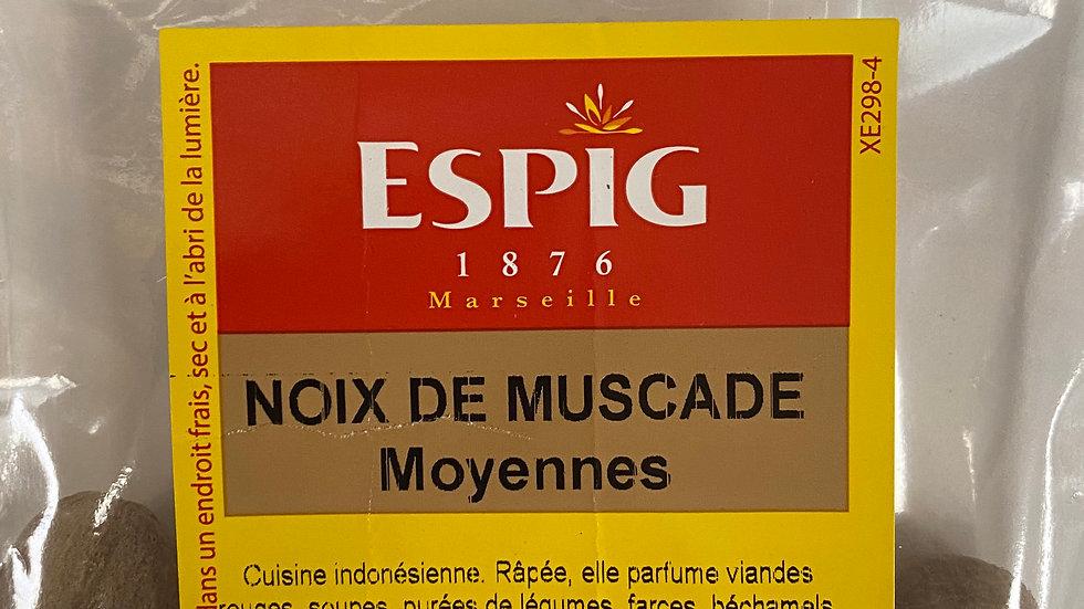 Noix de Muscade moyennes 50g