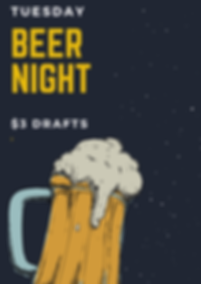 Yellow and Blue Beer Happy Hour Poster.p