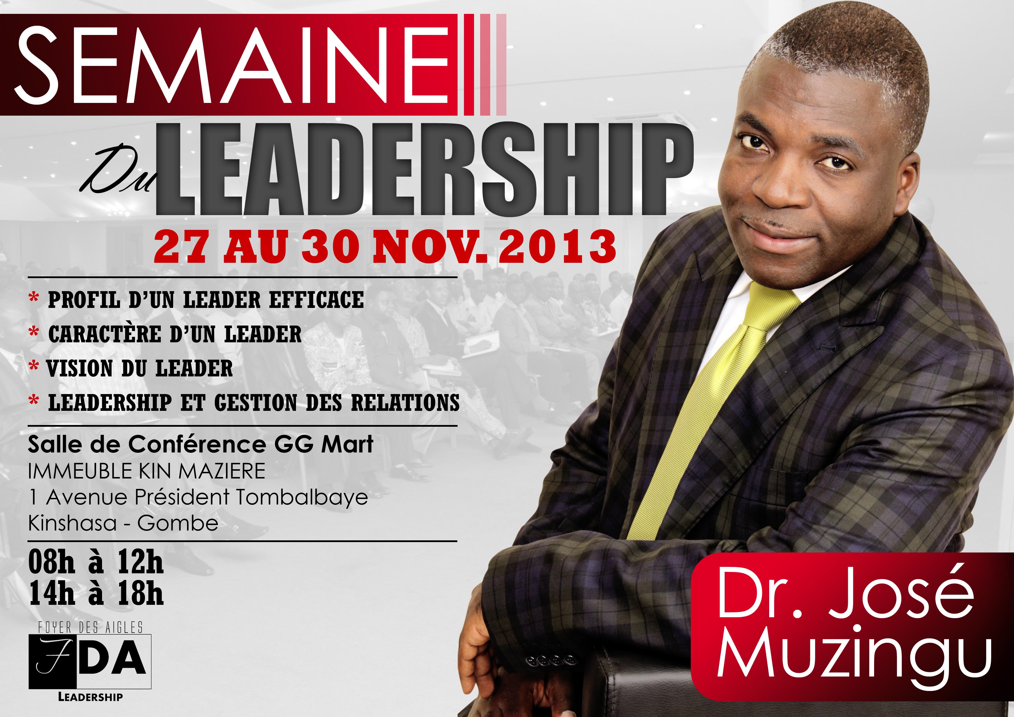 Leadership Week with DR. J MUZINGU