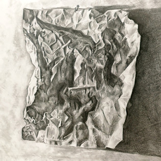 crumpled paper study