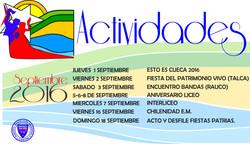 Actividades de Septiembre