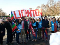 Profesores presentes en la marcha