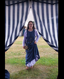 Entering my tent at the Ren Fest