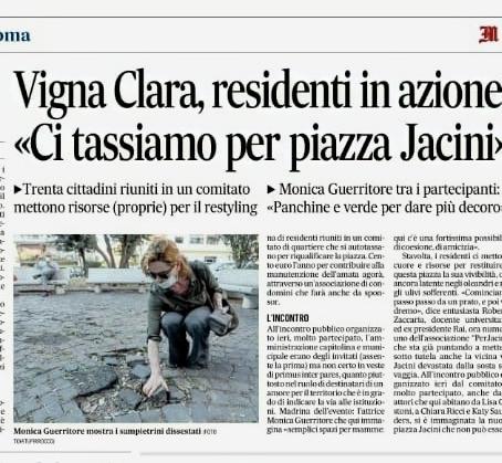 il Messaggero 26-6-2020 Vigna Clara residenti in Azione...