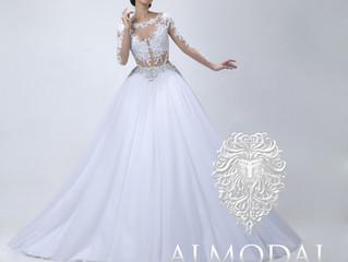 Celebrity Heart Evangelista wearing a Leo Almodal Bridal Masterpiece