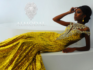 This Detailed Yellow Leo Almodal Haute Couture Masterpiece