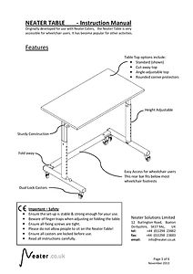 Neater-Table-Instructions-front-page-pag