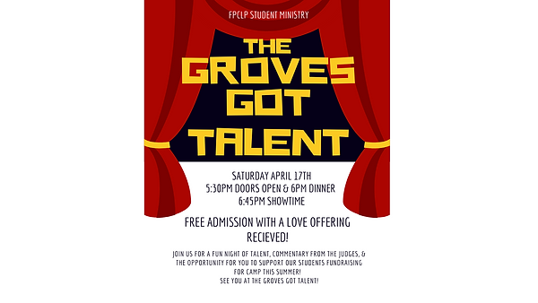 Yellow and Red Talent Show Invitation (3
