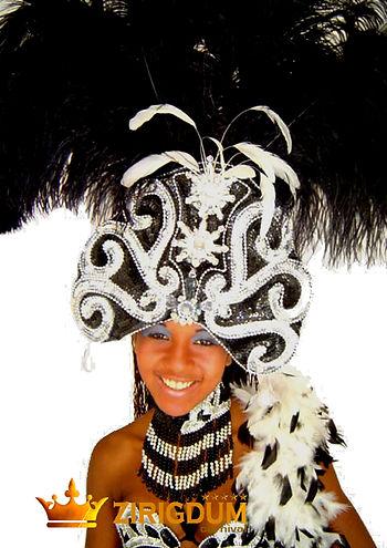 Brazilian carnival headdress, showgirl h