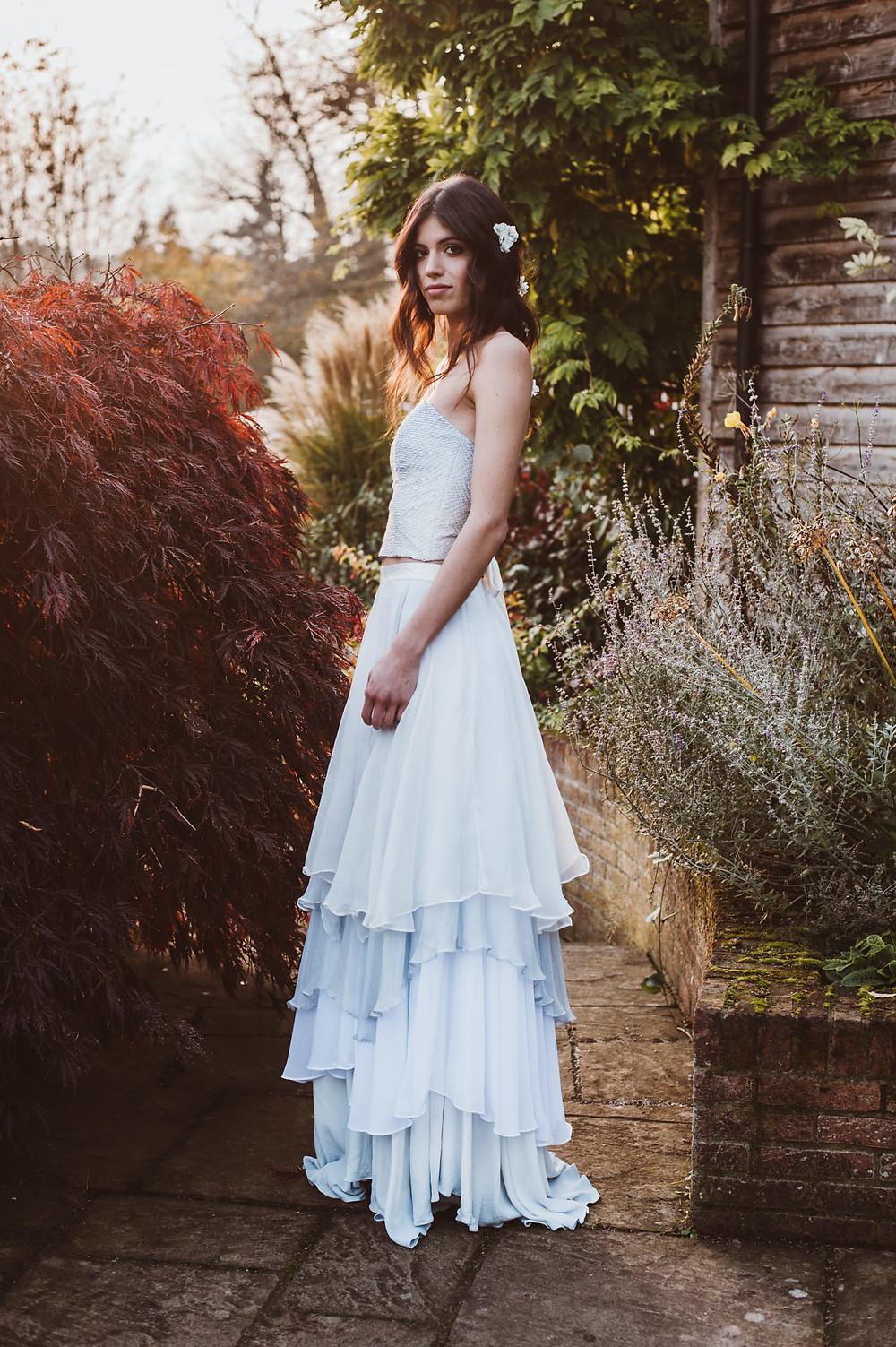 'Lobelia' Dip Dye Wedding Dress by Jessica Turner Designs