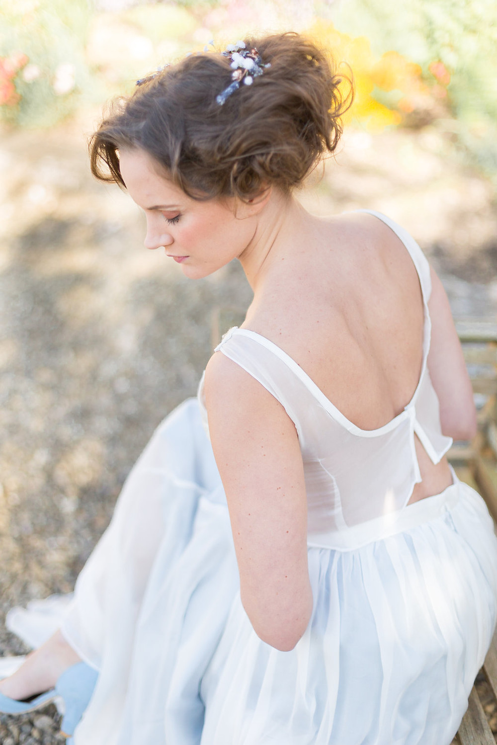 low back bridal dress