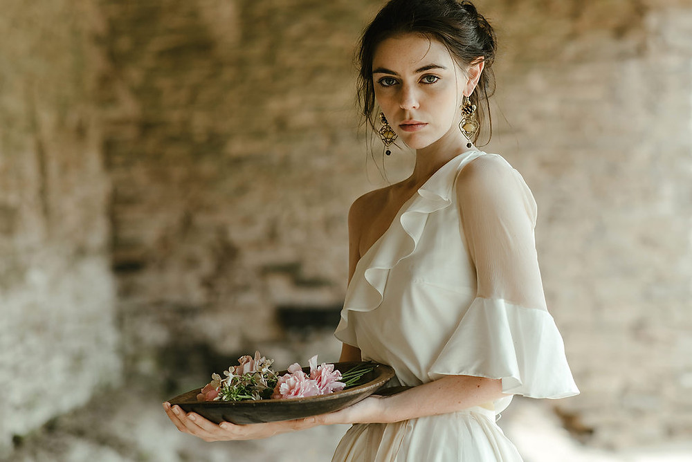 organic bamboo silk wedding dress Jessica Turner Designs, ethical wedding dress
