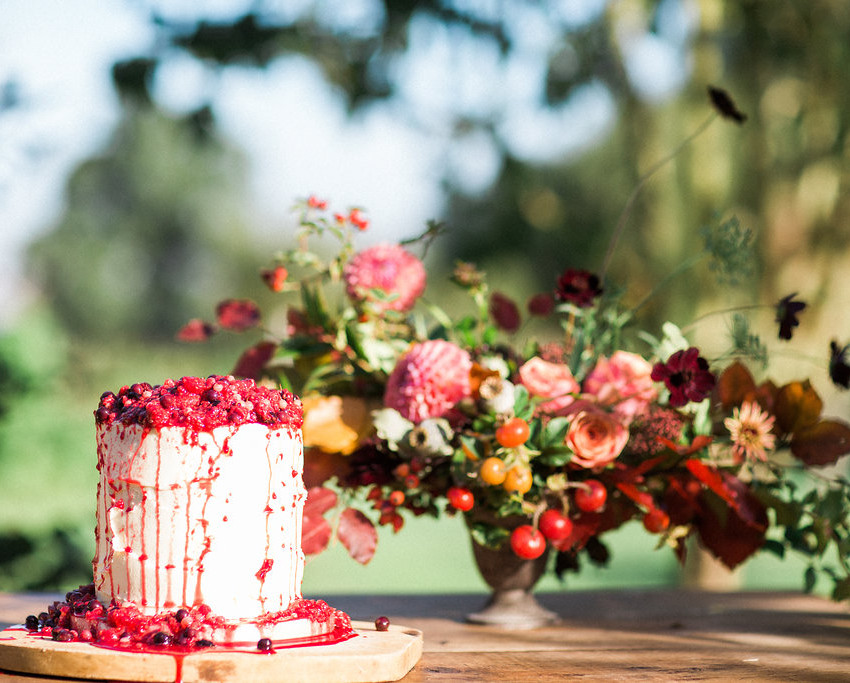 Rich Red Berry cake