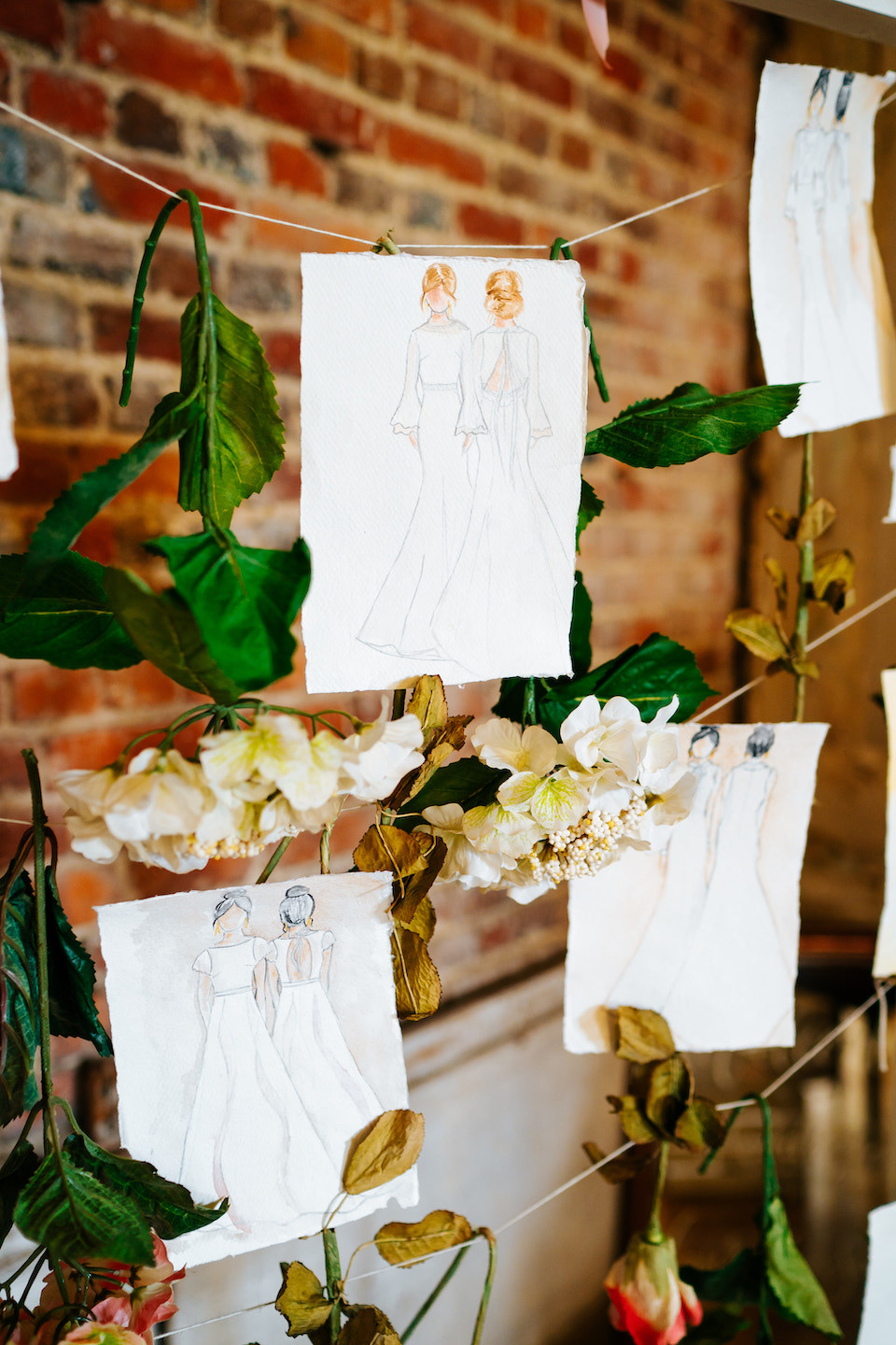 Jessica Turner Designs hand painted sketches to reduce the use of raw materials