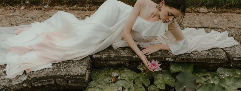 Jessica Turner Designs ethical dip dye wedding dress