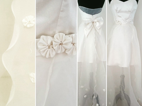 3D Fabric for a Wedding Dress