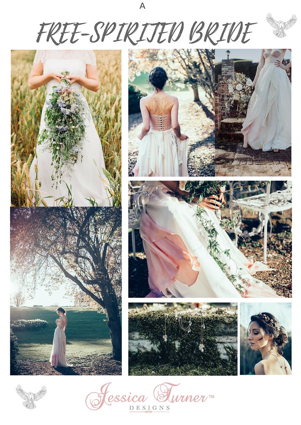 A free spirited bride by Jessica Turner Designs