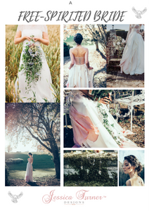 A free spirited bride by Jessica Turner Designs